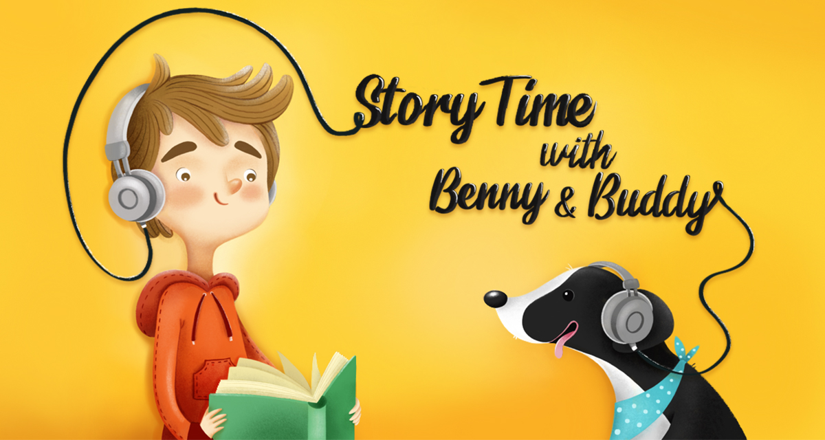 Story Time with Benny & Buddy 1200x640_ Pinna App Featured Promo Template