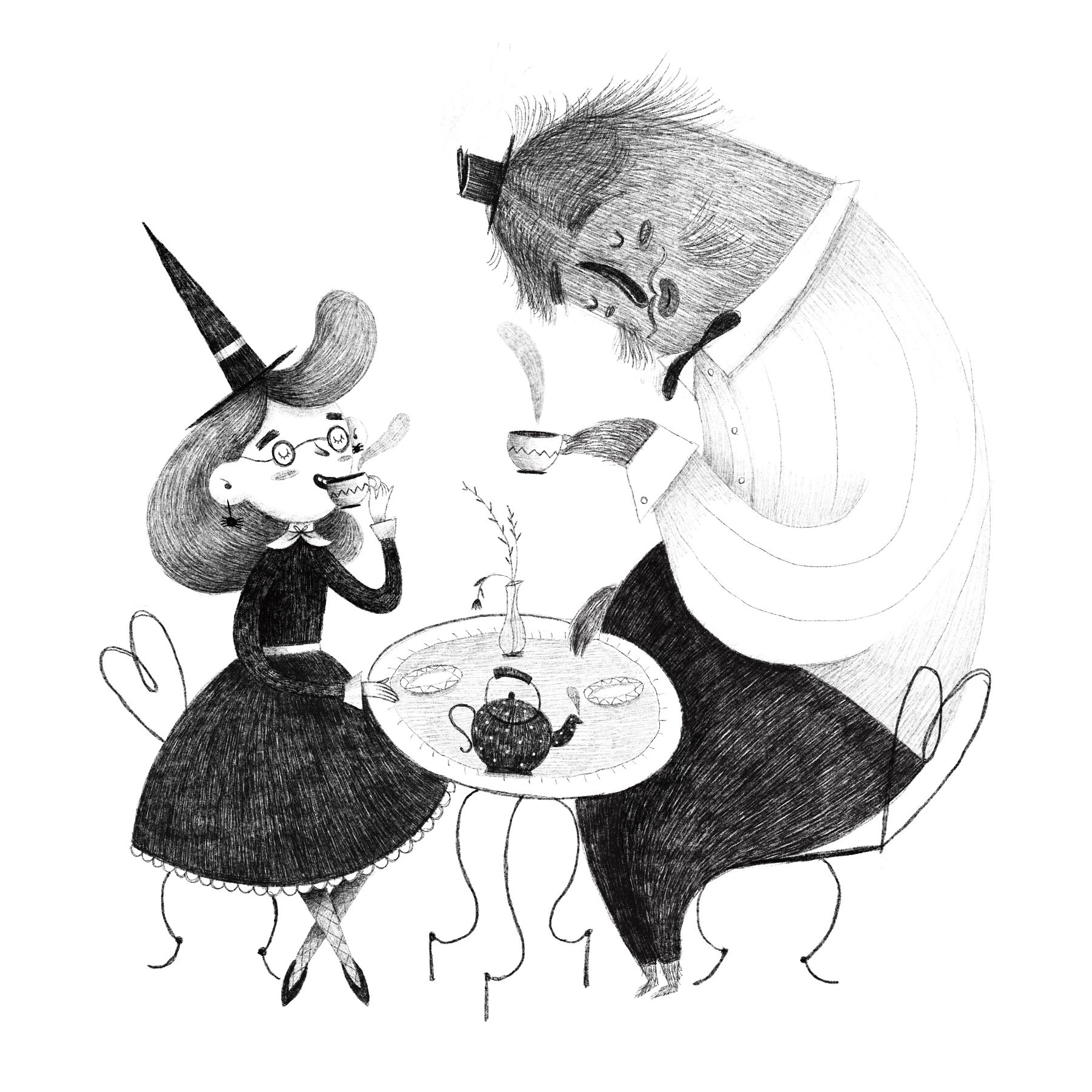 Tea party with a monster