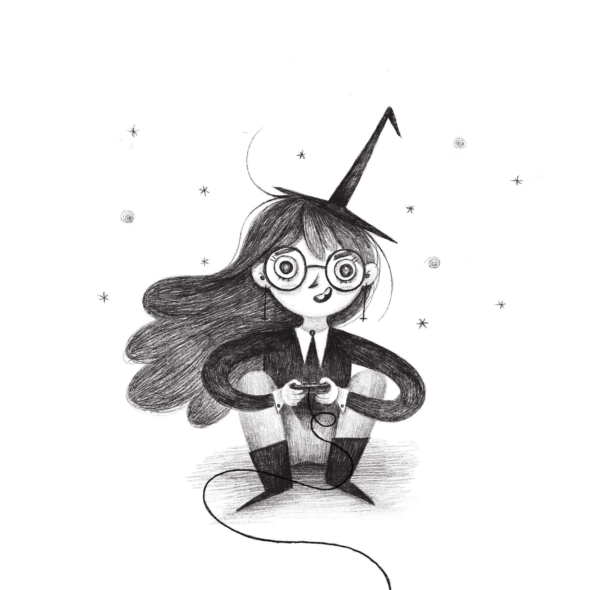 Gamer witch
