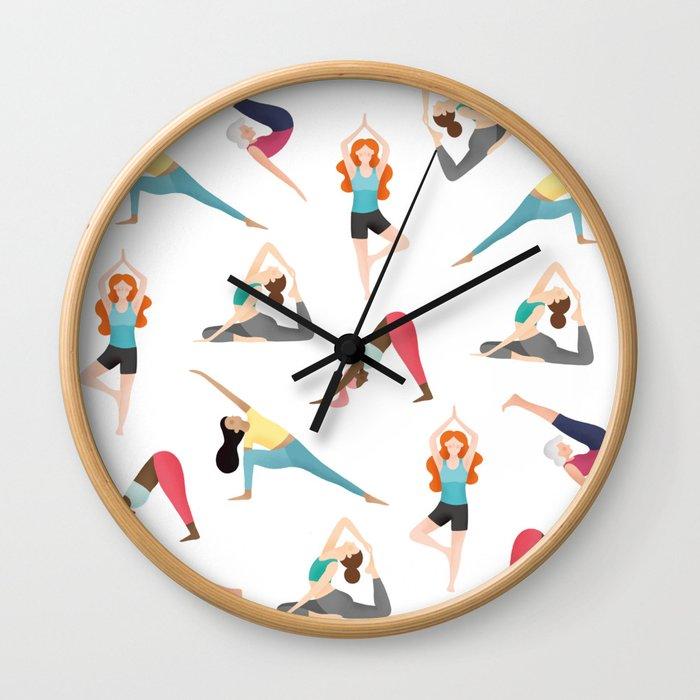 yoga-pattern1813066-wall-clocks